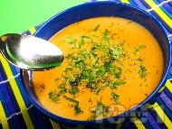 Рецепта Лесна вегетарианска супа от нахут със сметана